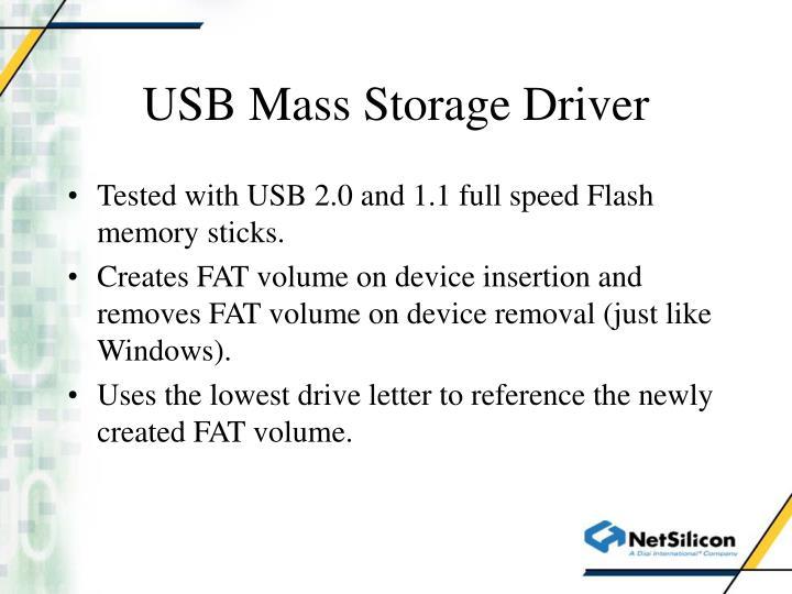 USB Mass Storage Driver