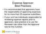 expense approver best practices