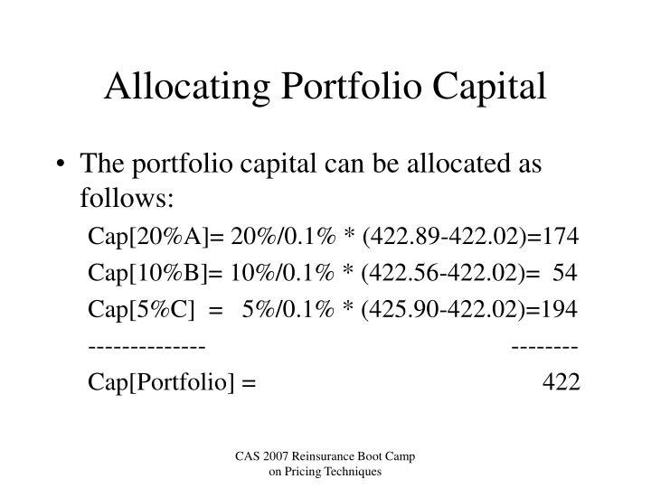 Allocating Portfolio Capital