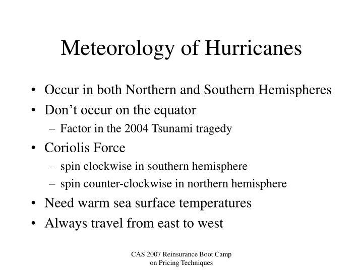 Meteorology of Hurricanes