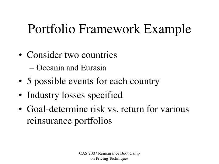 Portfolio Framework Example