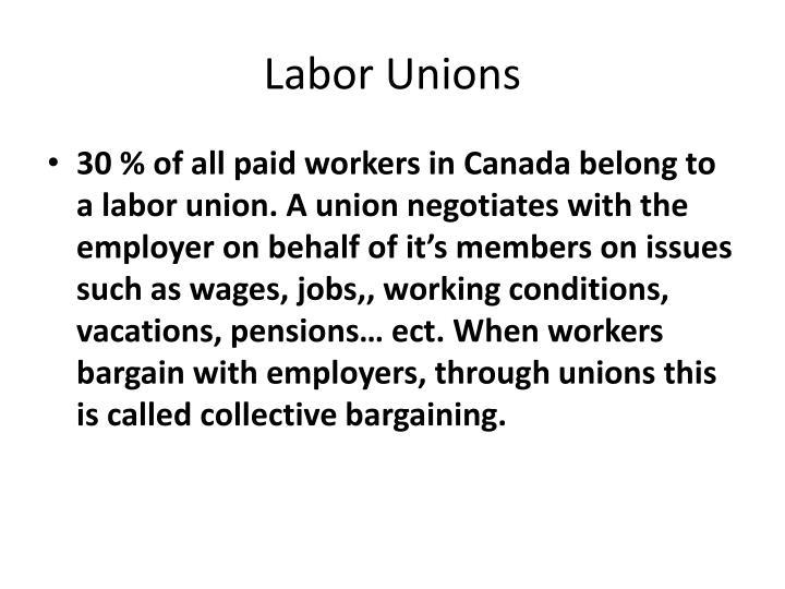 Labor unions1