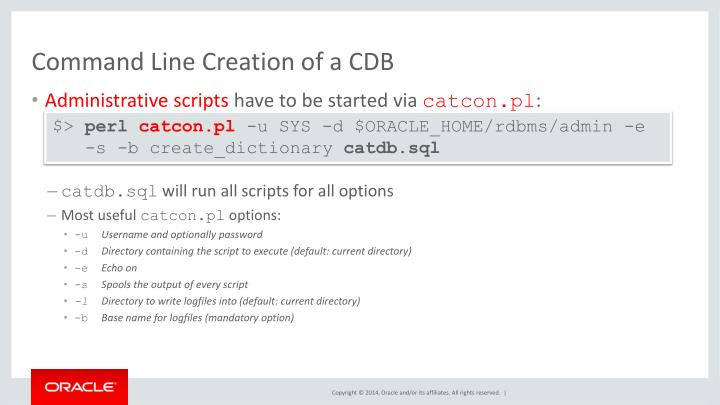 Command Line Creation of a CDB