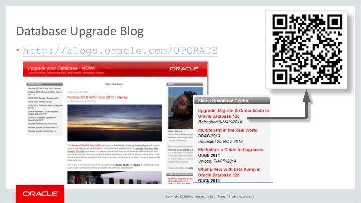 Database Upgrade Blog