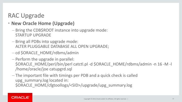 RAC Upgrade