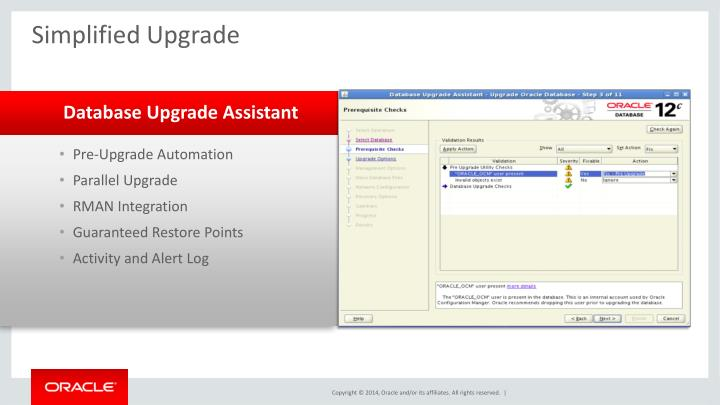 Simplified Upgrade