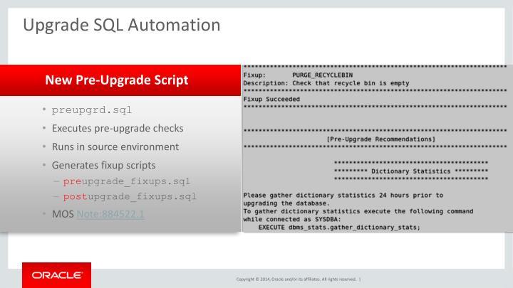 Upgrade SQL Automation