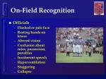 on field recognition1