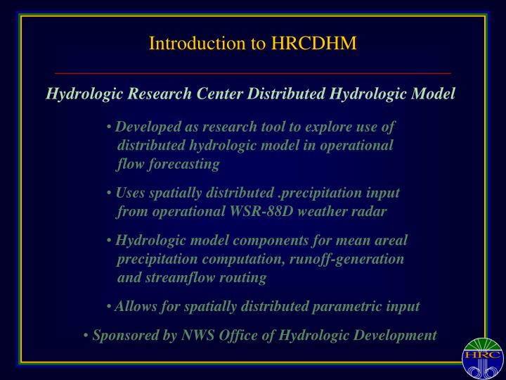 Introduction to HRCDHM
