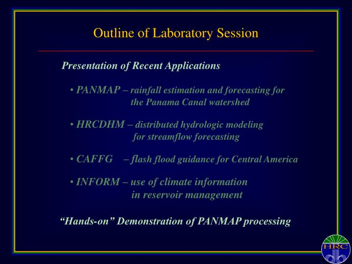 Outline of Laboratory Session