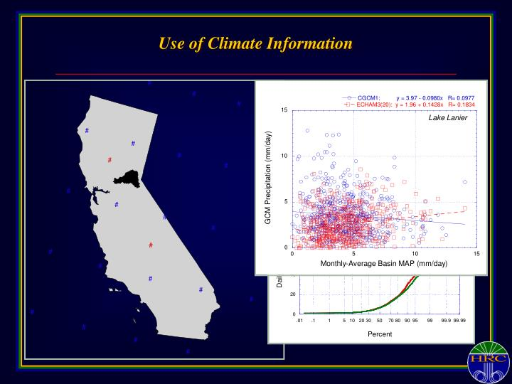 Use of Climate Information