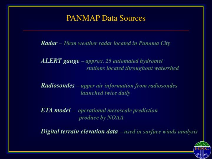 PANMAP Data Sources