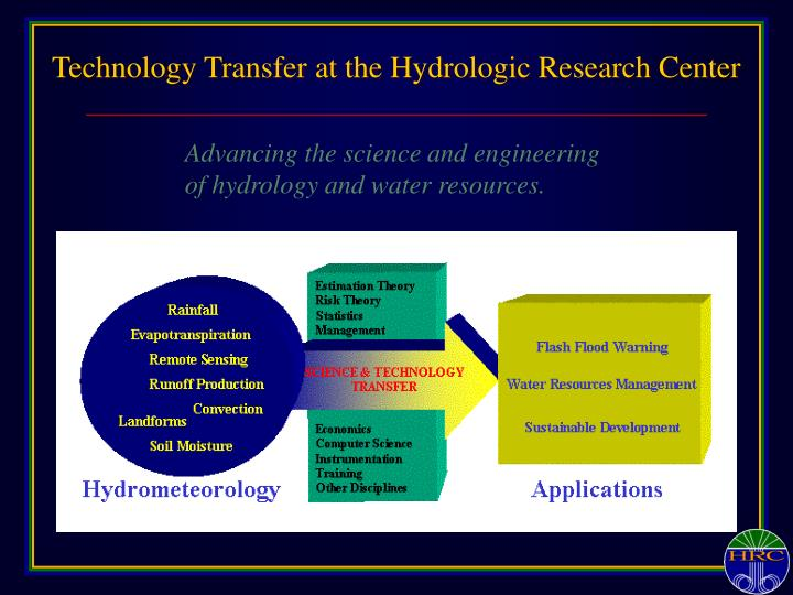 Technology transfer at the hydrologic research center