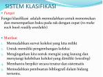 sistem klasifikasi11