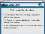 patron authentication