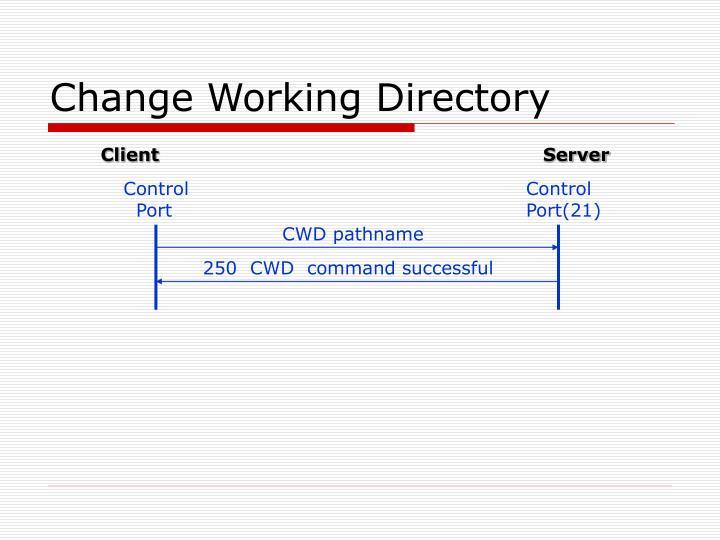 Change Working Directory