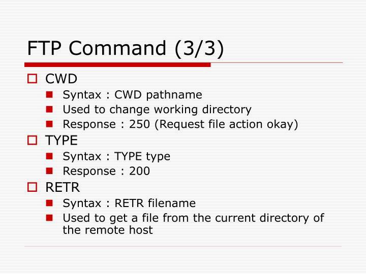 FTP Command (3/3)