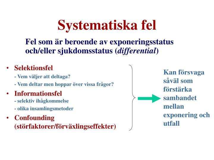 Systematiska fel