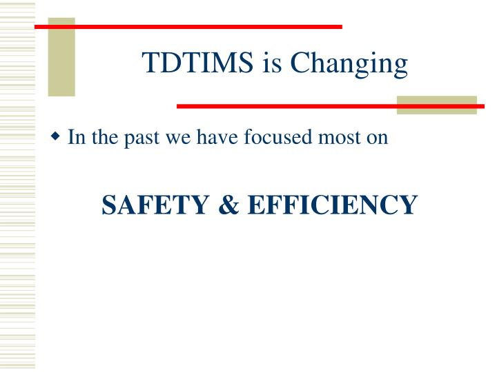 Tdtims is changing