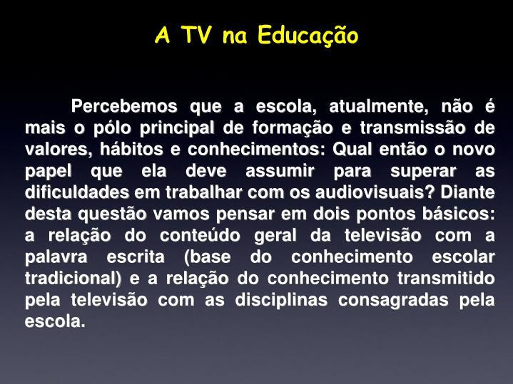 A TV na Educação