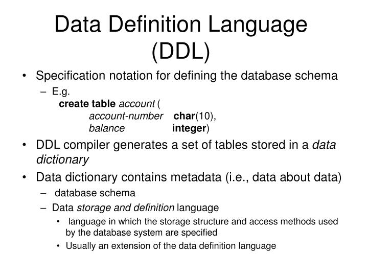 data definition language ddl n.