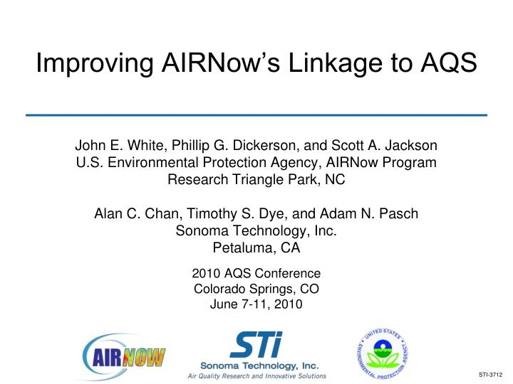 improving airnow s linkage to aqs n.