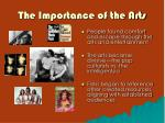 the importance of the arts
