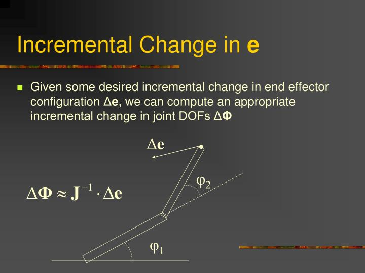 Incremental Change in