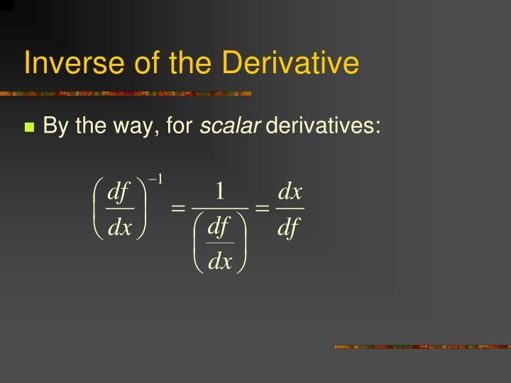 Inverse of the Derivative