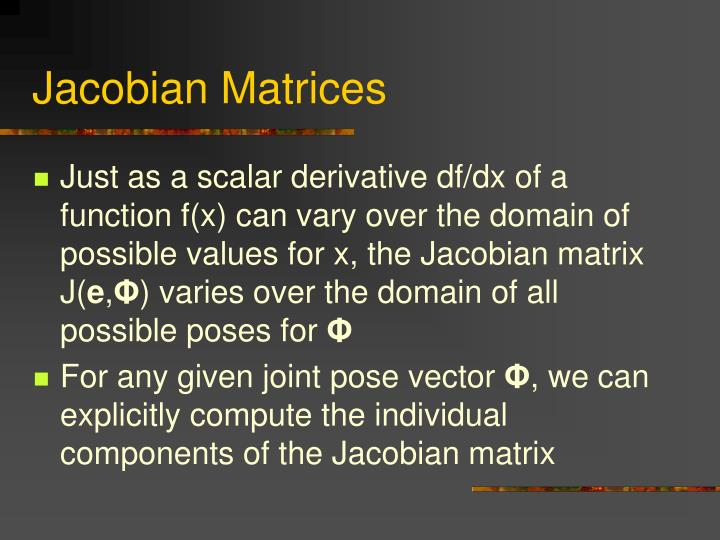 Jacobian Matrices