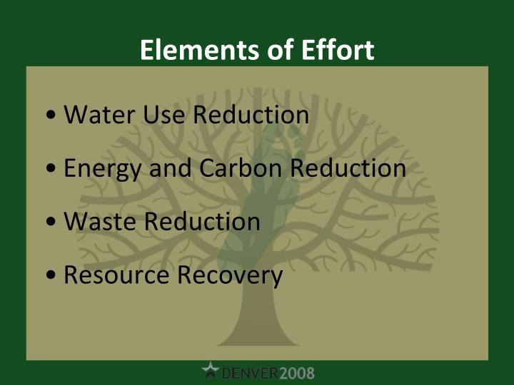 Elements of Effort