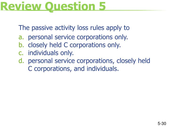 Review Question 5