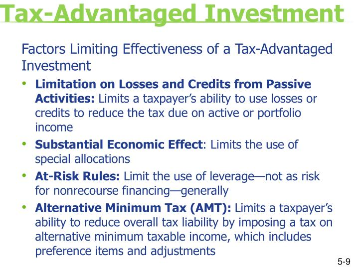 Tax-Advantaged Investment