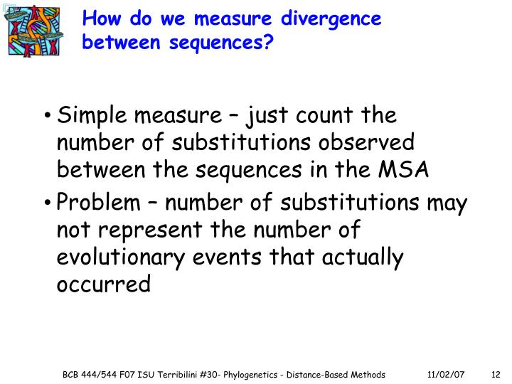 How do we measure divergence between sequences?