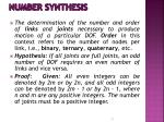 number synthesis
