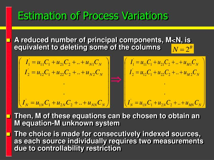 Estimation of Process Variations