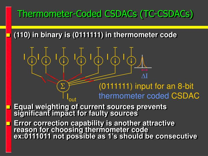 Thermometer-Coded CSDACs (TC-CSDACs)