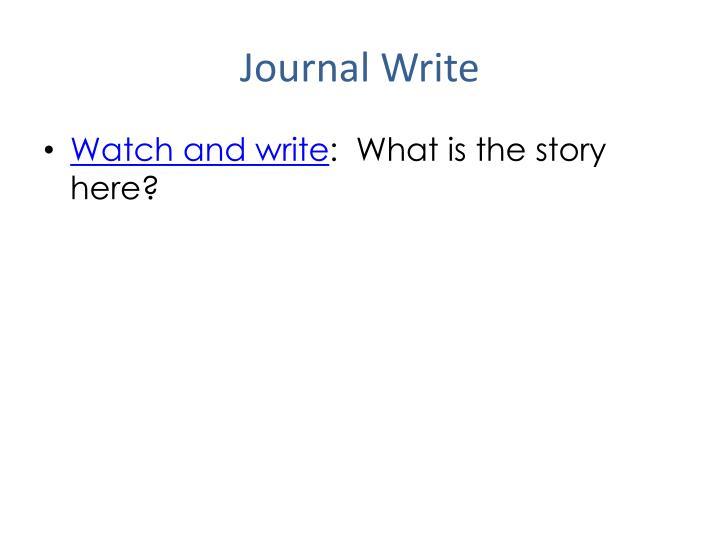 Journal Write