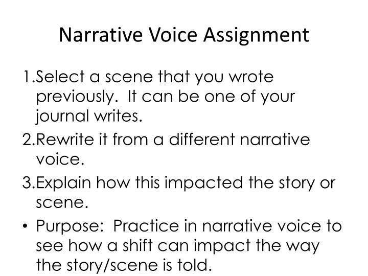 Narrative Voice Assignment