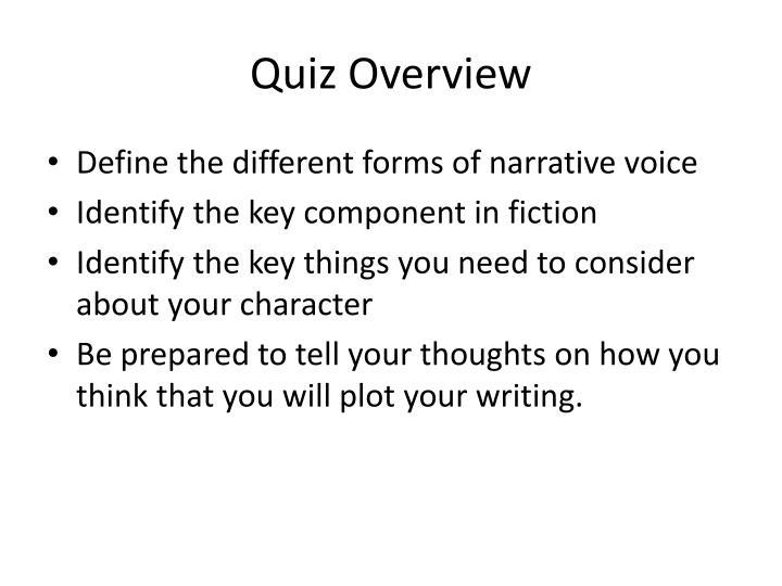 Quiz Overview