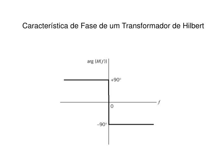 Característica de Fase de um Transformador de Hilbert