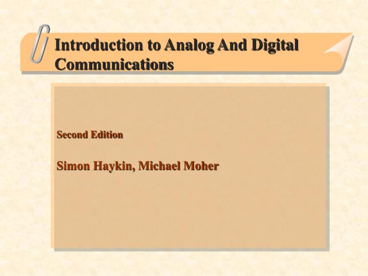 introduction to analog and digital communications n.