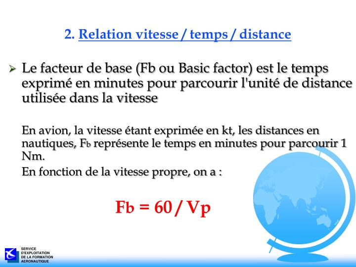 2 relation vitesse temps distance