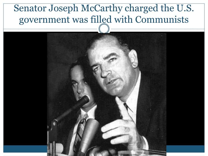 the political career of senator joseph mccarthy Trump is viewed more unfavorably now than joe mccarthy — after the army hearings sen joseph mccarthy of mccarthy's political career his senate.