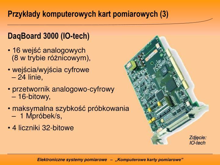 Przykłady komputerowych kart pomiarowych (3)