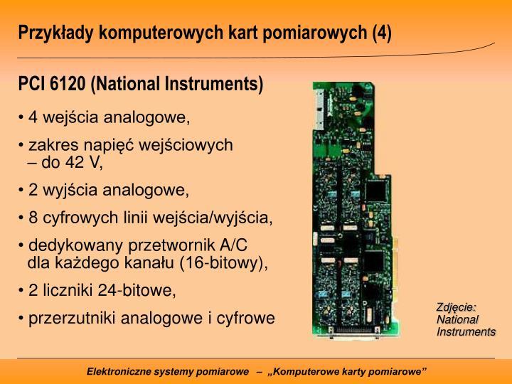 Przykłady komputerowych kart pomiarowych (4)