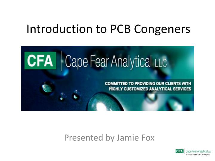 introduction to pcb congeners n.