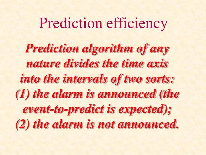 Prediction efficiency