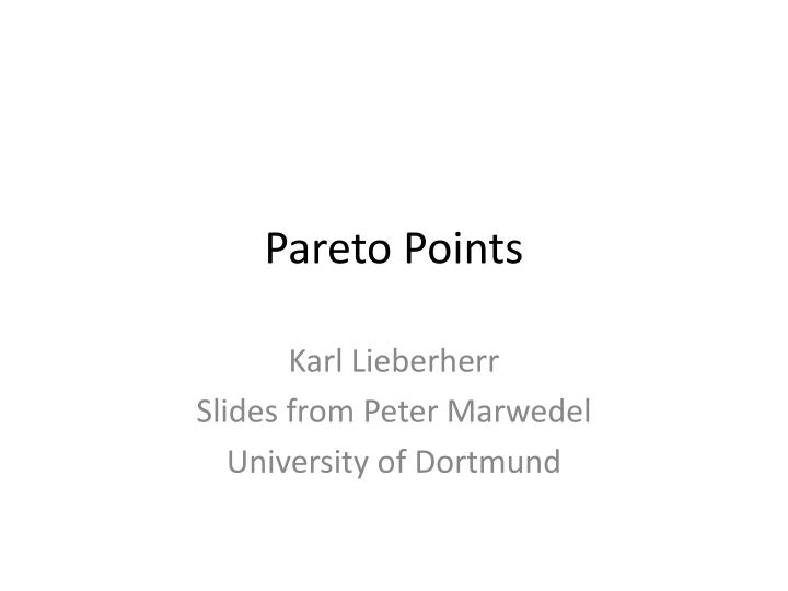 pareto points n.