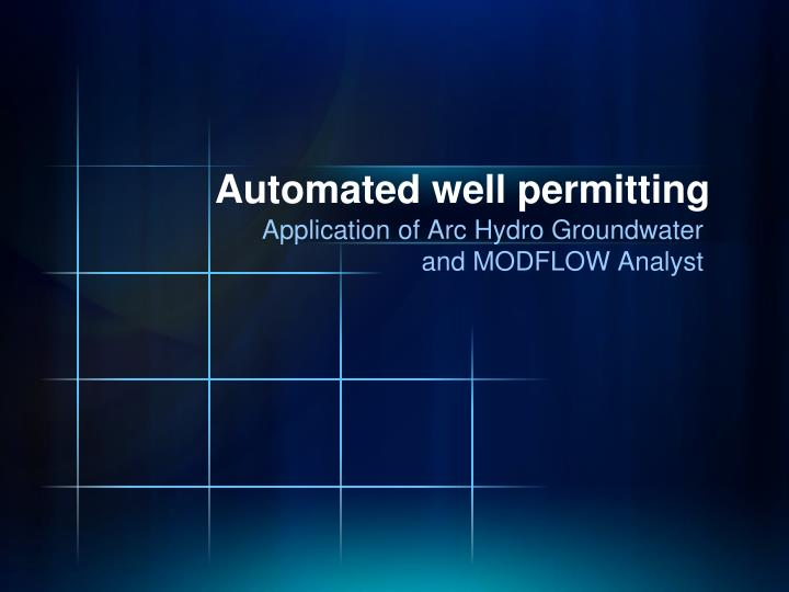 Automated well permitting